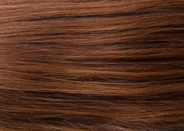 Primo piano di ciocche di capelli naturali