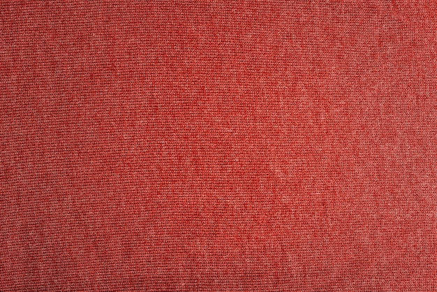 Close up foto della trama di un panno rosso