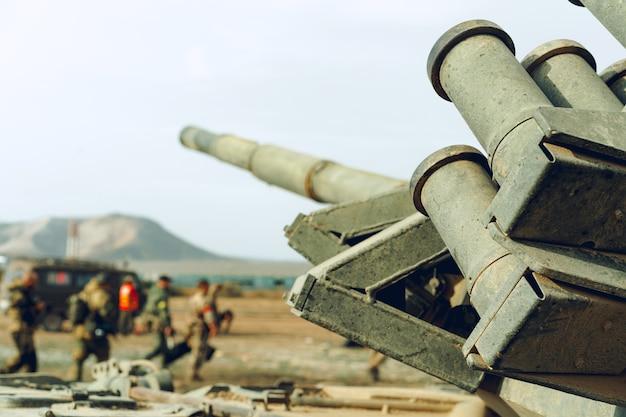 Primo piano foto di un carro armato russo