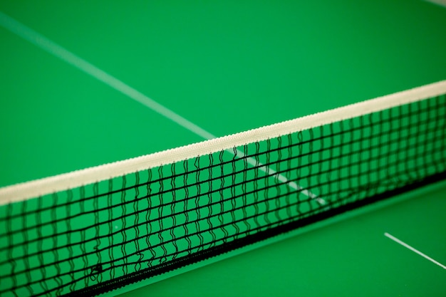 Chiudere la rete e la linea da ping pong