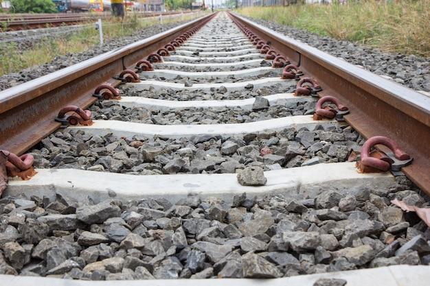 Primo piano del binario ferroviario