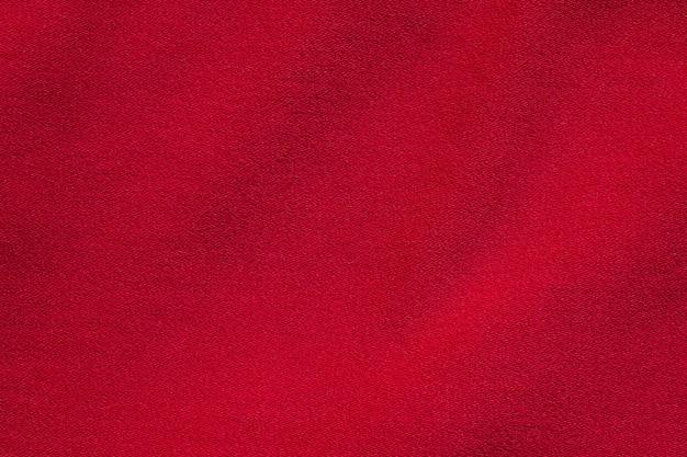 Primo piano sulla trama del tessuto rosso
