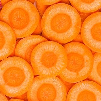 Fettine di close-up di carota