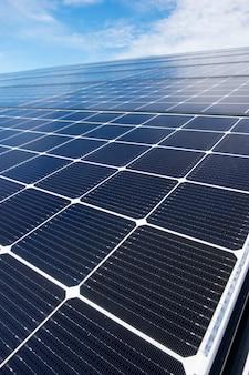 Primo piano tetto solare