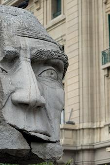 Primo piano di una statua, santiago, regione metropolitana di santiago, cile