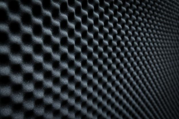 Primo piano della schiuma acustica del suono dello studio background