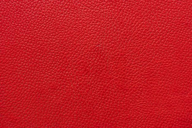 Close-up, trama di cuoio rosso naturale per materiali di sfondo e mobili