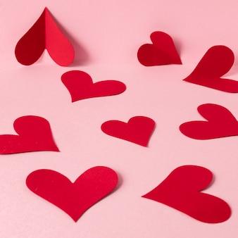 Vista ravvicinata della bella del concetto di san valentino