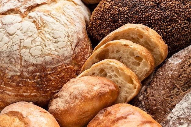 Vista ravvicinata del delizioso concetto di pane