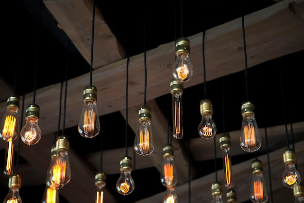 Vista ravvicinata alla lampadina