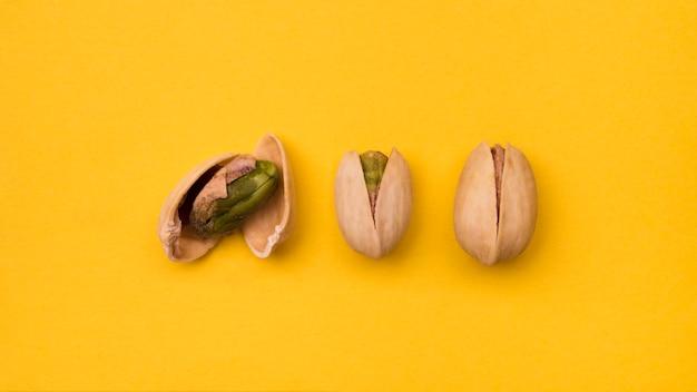 Vista del primo piano dei semi di pistacchio