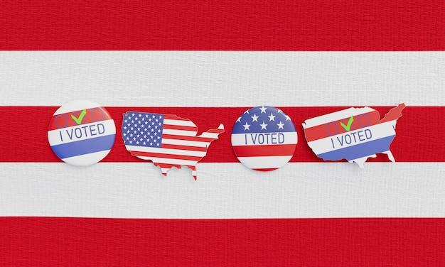 Vista ravvicinata del concetto di elezioni degli stati uniti