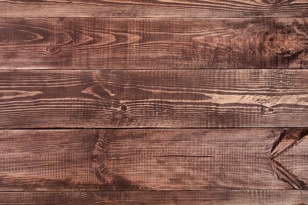 Primo piano del muro fatto di assi di legno marrone