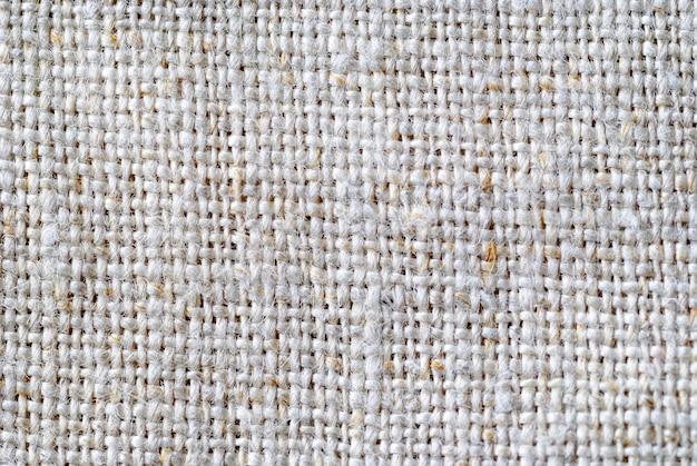 Primo piano sulla trama del tessuto di lino naturale