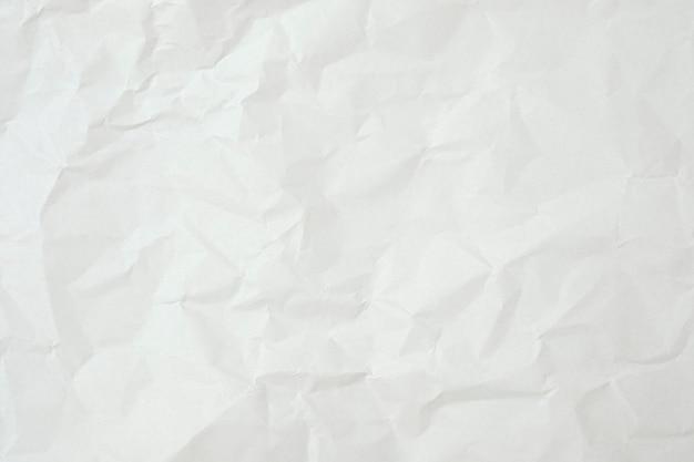Primo piano di carta stropicciata bianca per sfondo texture