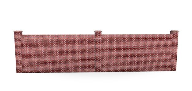 Grande cancello di ferro chiuso nel rendering 3d di sfondo bianco