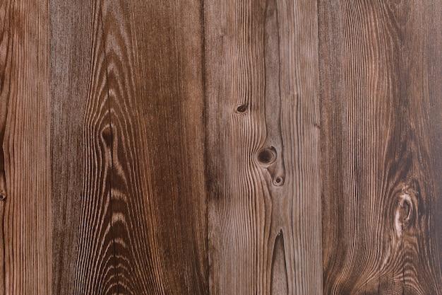 Primo piano della superficie di legno marrone