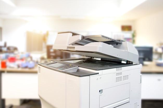 Primo piano la fotocopiatrice