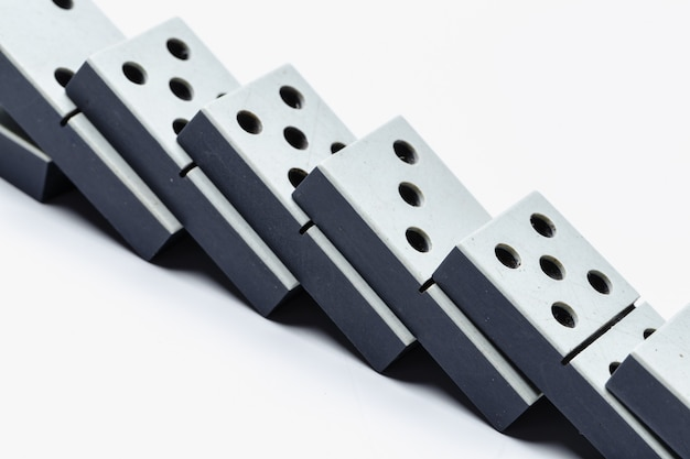 Primo piano del gioco del domino