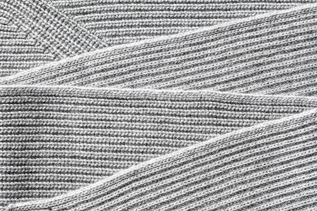 Primo piano del tessuto di cotone a maglia