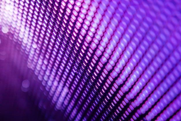 Schermo sfocato led closeup. sfondo di messa a fuoco morbida led. sfondo astratto