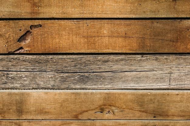 Primo piano di una vecchia struttura della parete di legno