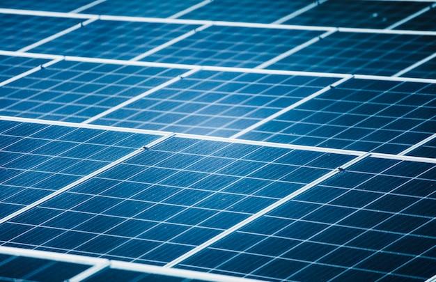 Primo piano delle centrali fotovoltaiche