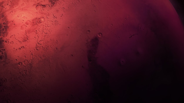 Un primo piano del pianeta rosso marte
