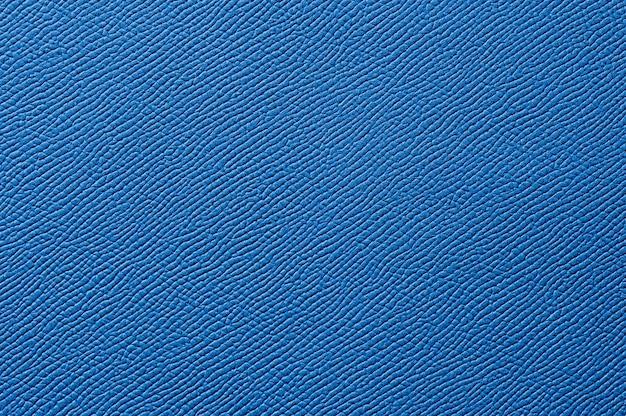 Primo piano di texture in pelle blu senza soluzione di continuità per lo sfondo