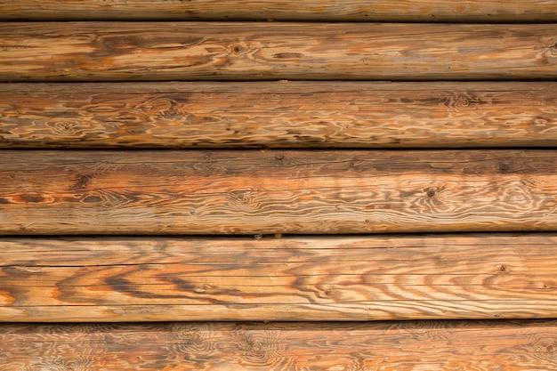 Colpo del primo piano delle lastre di legno. sfondo di legno
