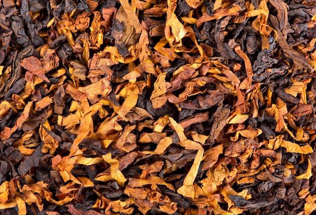 Primo piano del tabacco da fumo. sfondo o trama