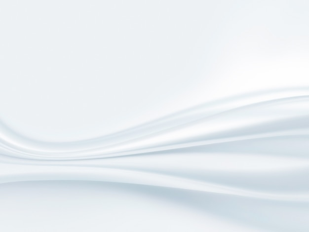 Primo piano di tessuto di raso bianco come sfondo