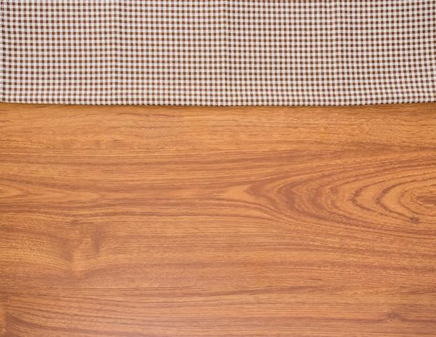 Sfondo di stoffa e legno