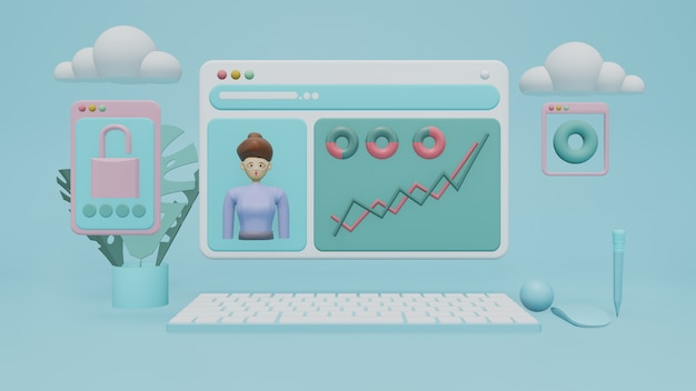 Cloud computing che connette dispositivi tecnologici