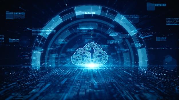 Cloud computing della sicurezza informatica della protezione della rete di dati digitali