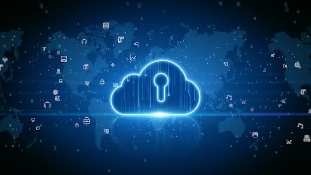 Cloud computing della sicurezza informatica, protezione della rete dati digitale