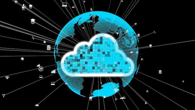 Tecnologia di cloud computing e archiviazione dati per innovazioni future