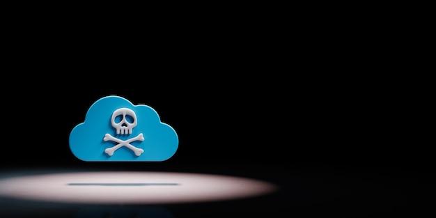 Il cloud computing pirateria concetto di sicurezza sotto i riflettori isolato