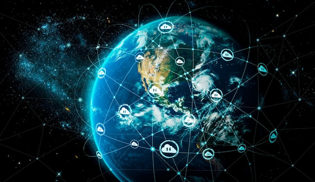 Tecnologia di cloud computing e archiviazione di dati online in una percezione innovativa