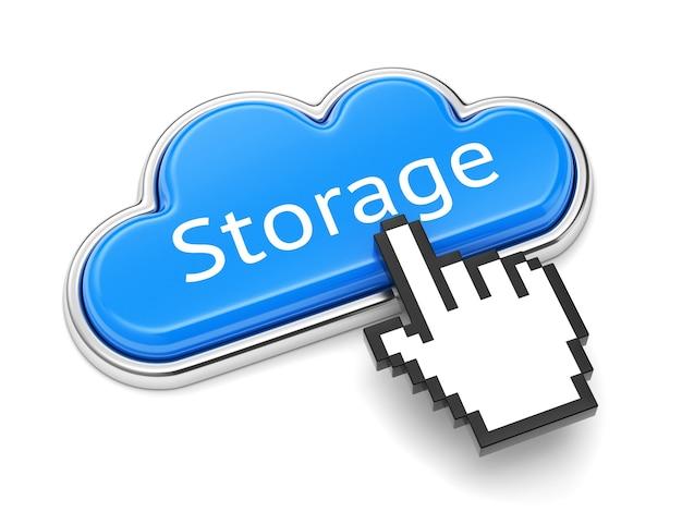 Tecnologia di cloud computing, servizio di archiviazione online e concetto di sicurezza.