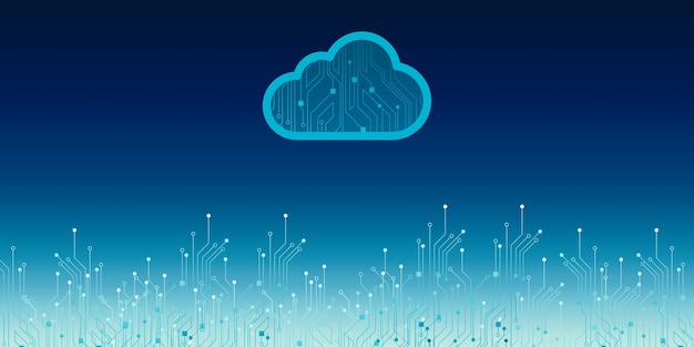 Archivio dati cloud rete wireless archiviazione cloud sfondo concetto di internet tecnologia di cloud computing