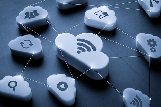 Connessione tecnologica cloud