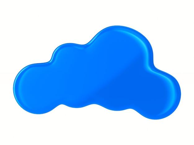 Nuvola su sfondo bianco. illustrazione 3d isolata