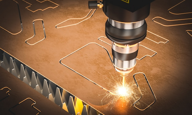 Macchina laser cnc per taglio metalli