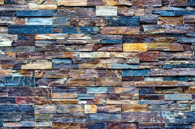 Fondo in legno stagionato cobalto e materiale da costruzione alternativo