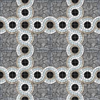 Piastrelle decorative in ciottoli. texture di sfondo di pietra naturale.