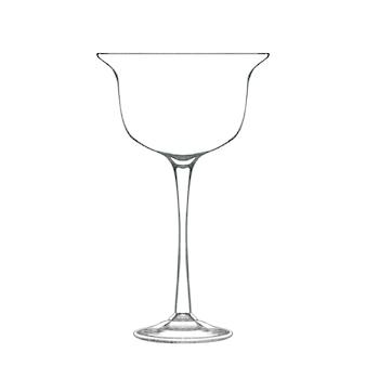 Coupé cocktail per bevanda alcolica