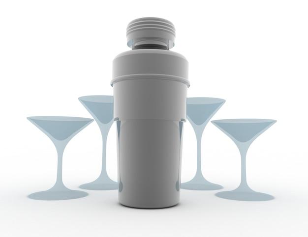 Shaker con bicchiere