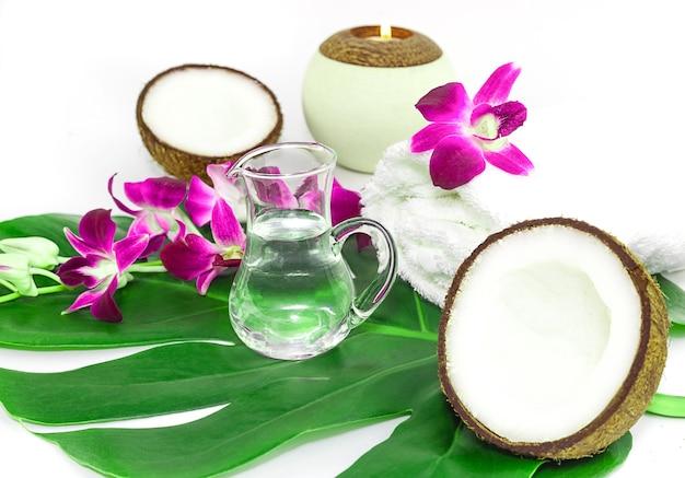 Cocco natural spa ingredienti foto stock