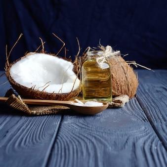 Olio di cocco e cocco fresco